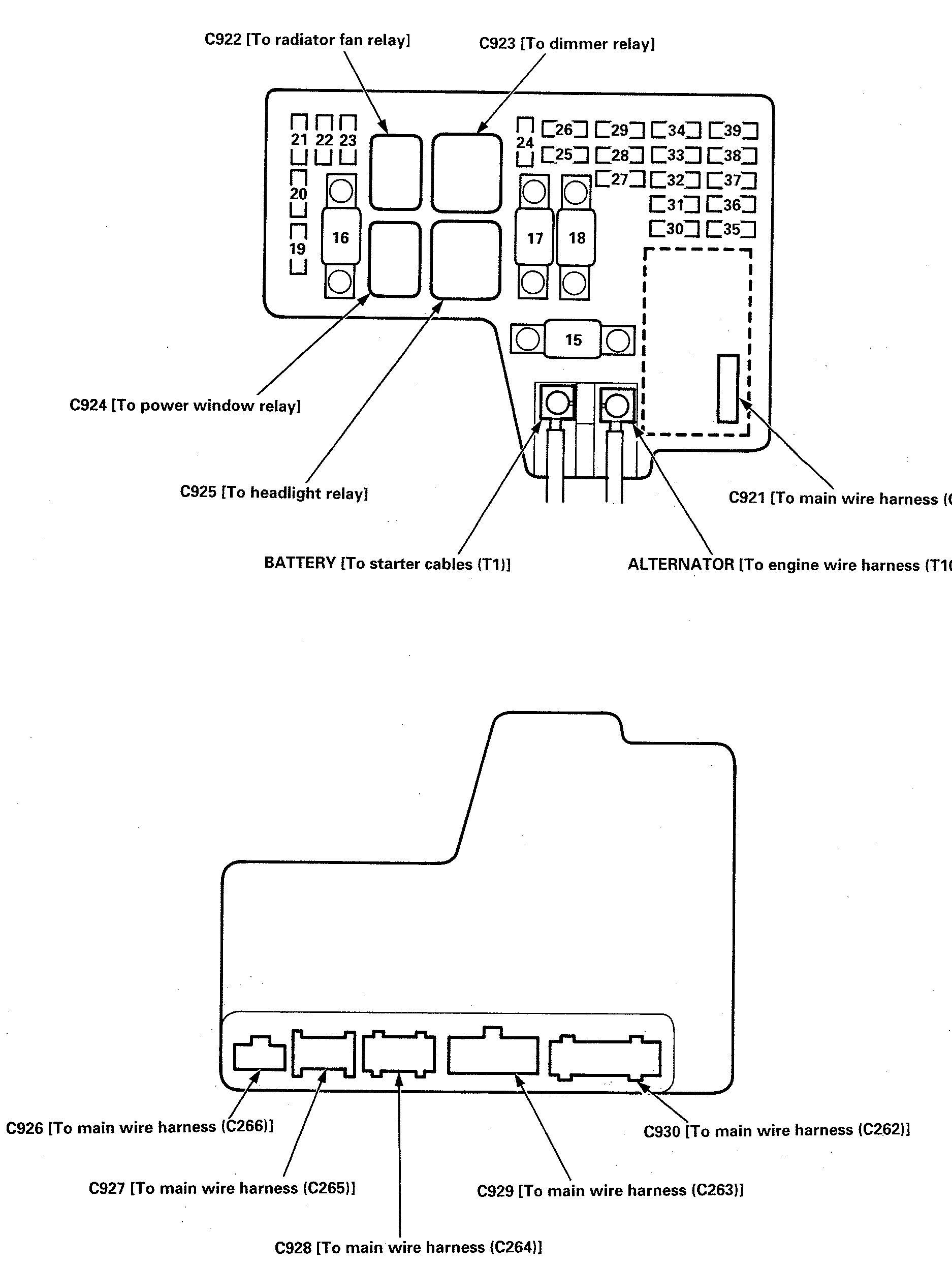hight resolution of isuzu oasis fuse box diagram under hood