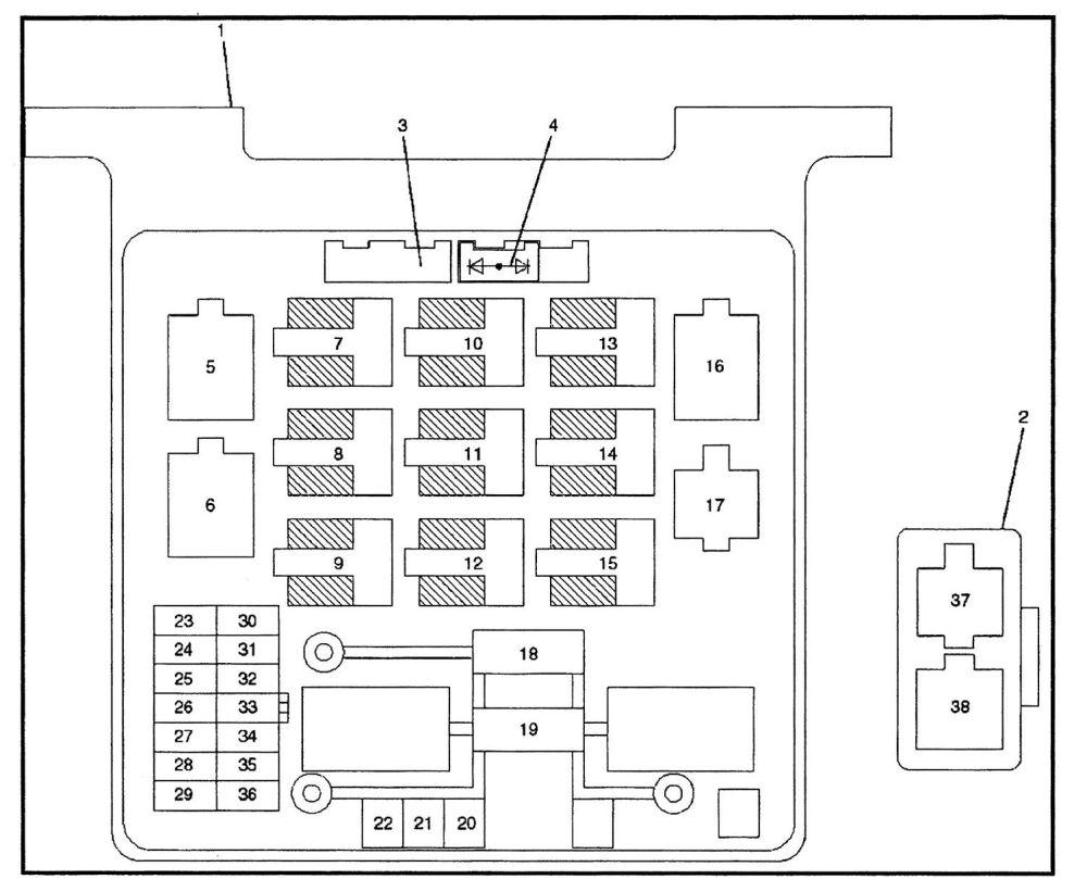 medium resolution of isuzu rodeo 2000 2001 fuse box diagram