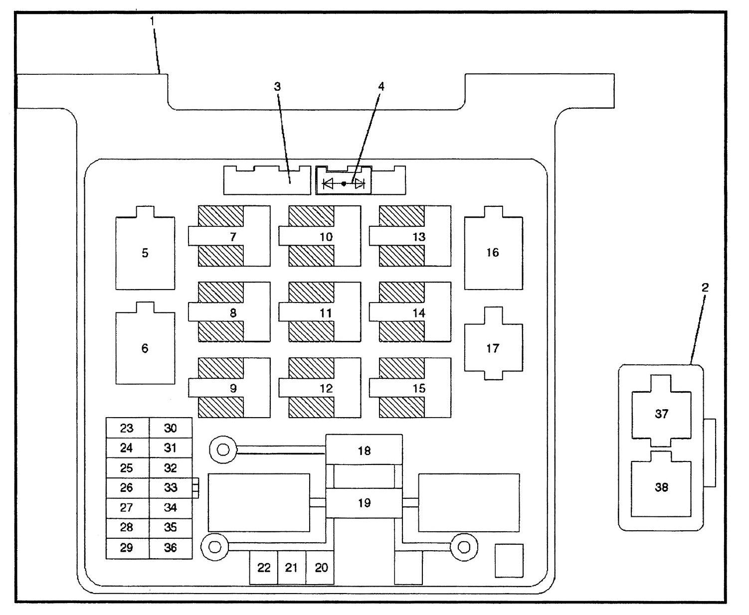 hight resolution of isuzu rodeo 2000 2001 fuse box diagram