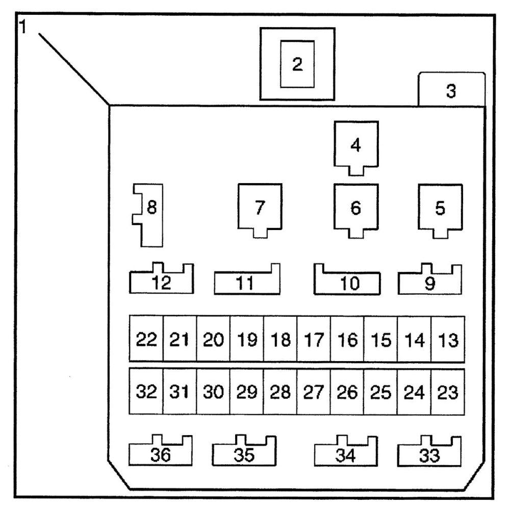 medium resolution of isuzu trooper 2000 2001 fuse box diagram