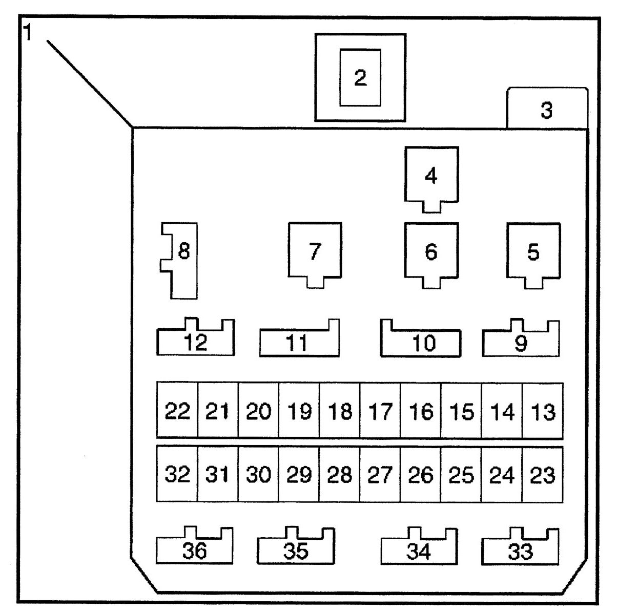 hight resolution of isuzu trooper 2000 2001 fuse box diagram