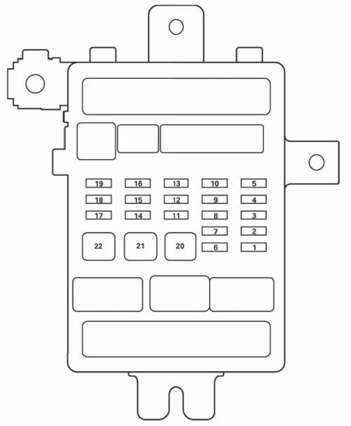 small resolution of acura tl fuse box diagram passenger s under dash fuse relay box