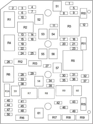 Chevrolet Impala (2006  2013)  fuse box diagram  Auto