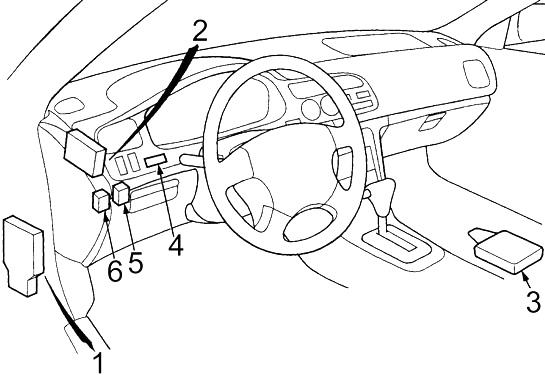 Wiring Diagram Honda Accord 1997 : 1997 Honda Accord Power