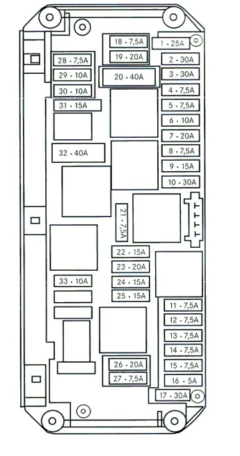 mercedes c class 2003 fuse box diagram