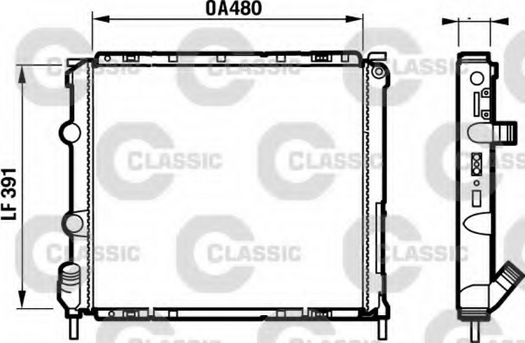 RADIATORE MOTORE RENAULT CLIO II 2.0 16V Sport 2000> VALEO
