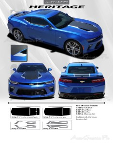 premium scotchcal and wrap series vinyl color chart also chevy camaro heritage th anniversary style hood rh autographicspro