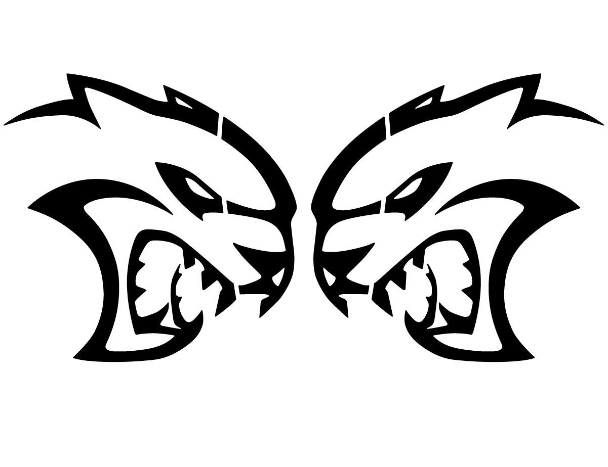Hellcat Logo Decals 28 Inch Pair Fits Dodge Challenger