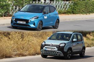Fiat Panda 1.0 Hybrid Vs Hyundai i10 1.0