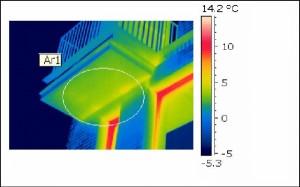 Imagine termica a unei cladiri