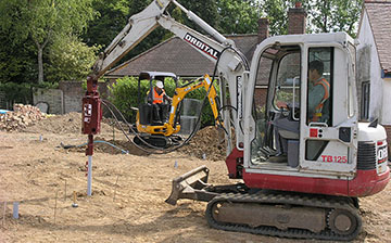 60R Screw Pile Installation for Facit Homes New Build