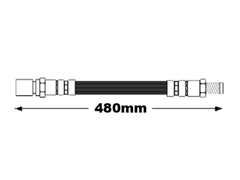 Meyle 113611701, 1006110005 Brake Hose/Line; Front; 480mm