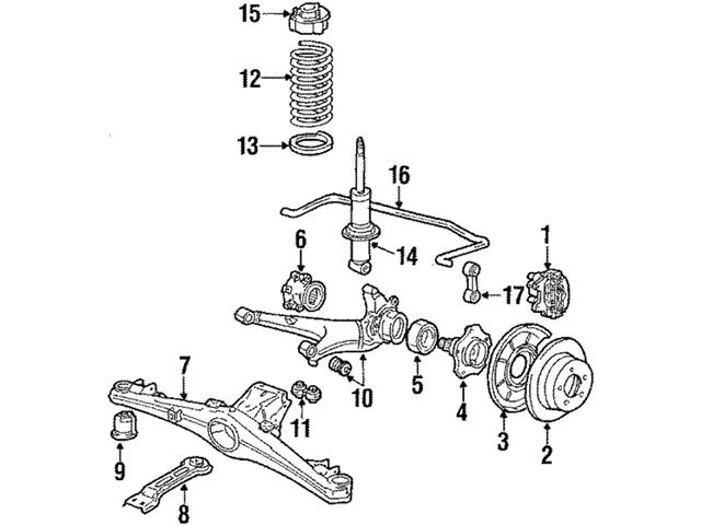 Genuine BMW 37121133736 Shock Absorber; Right, Rear Right