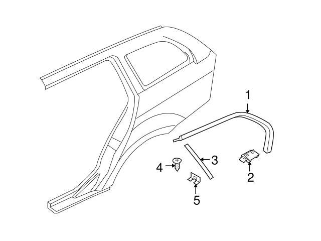 Genuine BMW 51137220202 Quarter Panel Reveal Molding