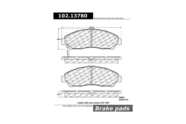 Centric 10213780 Brake Pad Set; C-TEK Metallic Brake Pads
