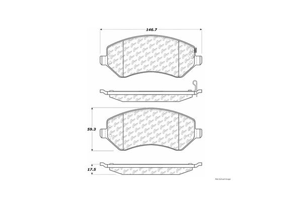 Centric 10308560 Brake Pad Set; C-TEK Ceramic Brake Pads
