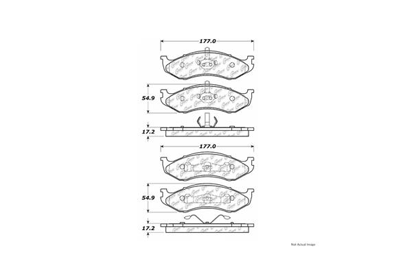 Centric 10504770 Brake Pad Set; Posi-Quiet Ceramic w/Shims