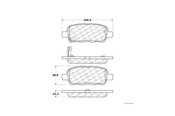 Centric 10509050 Brake Pad Set; Posi-Quiet Ceramic w/Shims