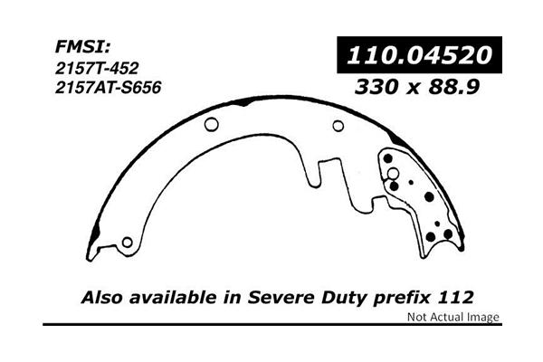 Centric 11004520 Brake Shoe Set; C-TEK Brake Shoes