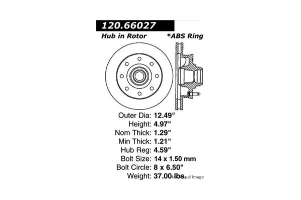 Centric 12066027 Disc Brake Rotor; Premium Disc