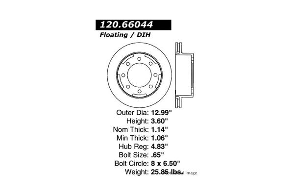 Centric 12066044 Disc Brake Rotor; Premium Disc