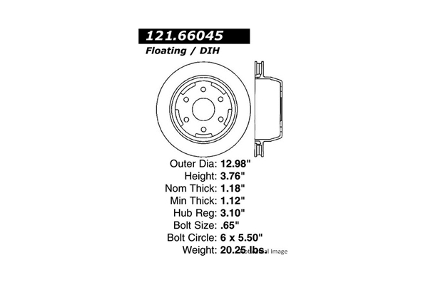 Centric 12166045 Disc Brake Rotor; C-TEK Standard Disc