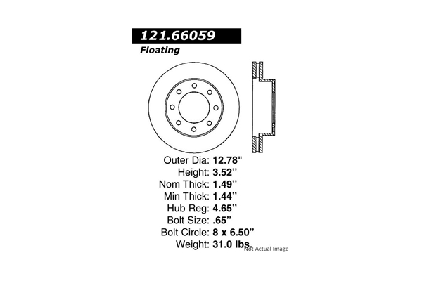 Centric 12166059 Disc Brake Rotor; C-TEK Standard Disc