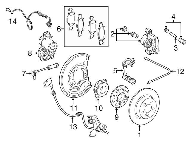 Genuine Mercedes 000421081864 Brake Caliper Guide Pin