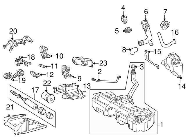 Genuine Mercedes 2014785140 Fuel Pump Mounting Bracket