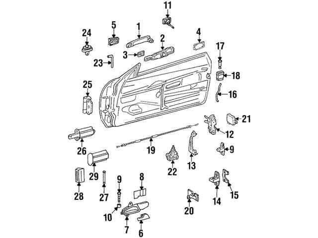 Genuine Mercedes 2017200004 Door Lock Striker Plate; Left