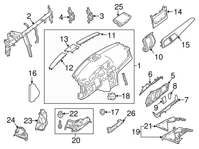 Genuine Mercedes 2046801771 Instrument Panel Molding