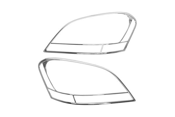 URO Parts W164-HLR Headlight Trim Ring; Chrome, 2pc Set
