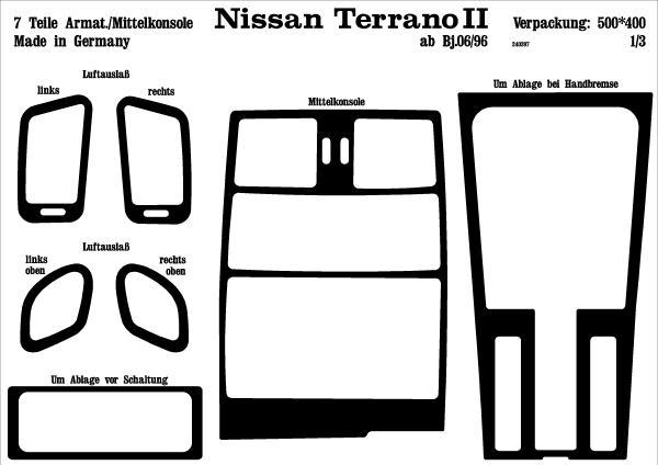 Comprar Laminas autoadhesivas prewoodec nissan terrano ii
