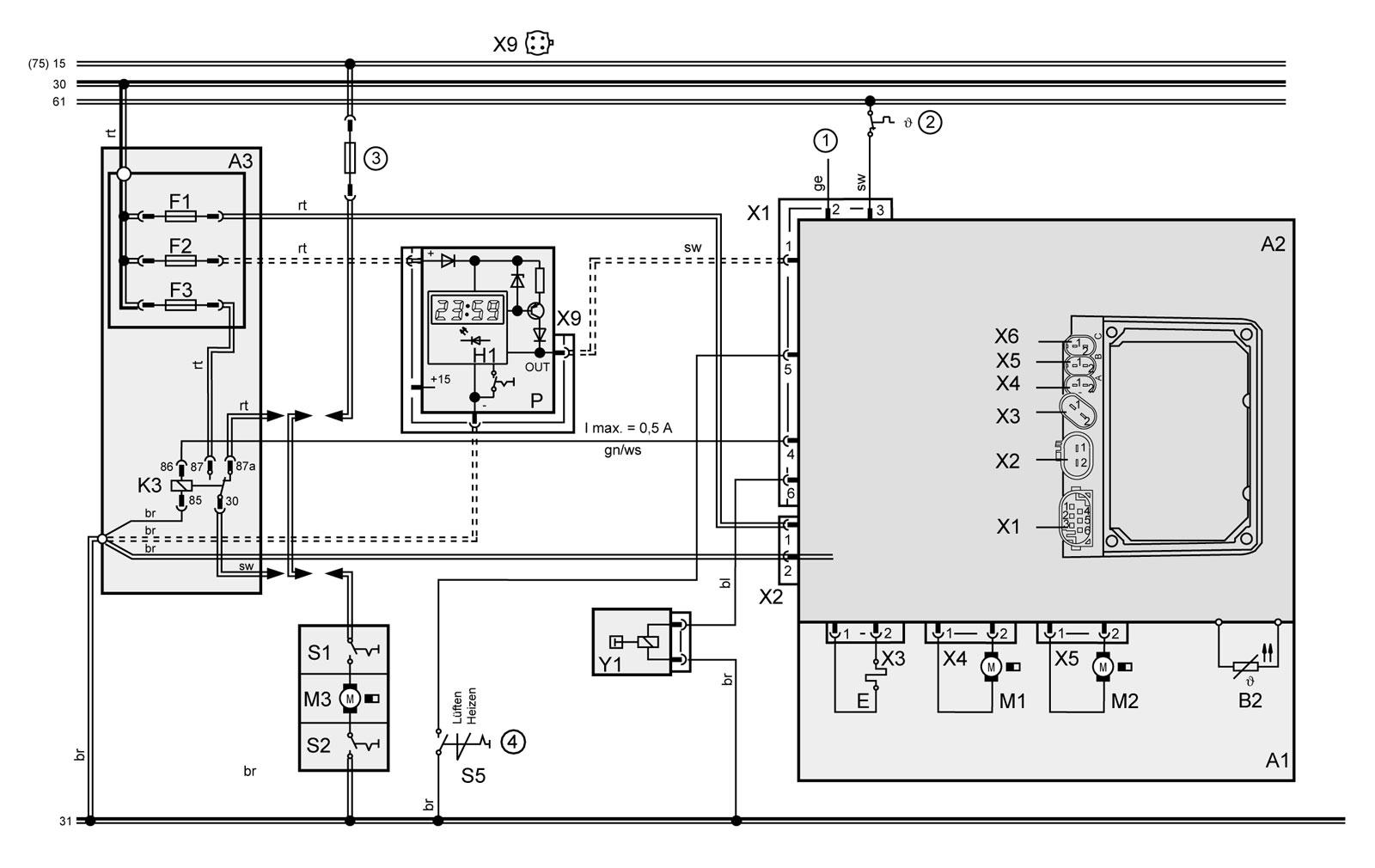 bmw wiring diagrams e39 steam power plant diagram webasto   Электрическая схема отопителей Вебасто (495) 970-08-75