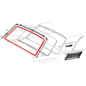 BACK GLASS WEATHERSTRIP 1963-65 FORD FAIRLANE 1963 METEOR