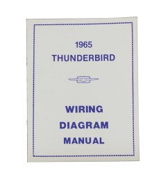 1965 thunderbird wiring diagram manual reprint ford factory wire color codes gauges repair softbound 16 pages  [ 1000 x 1000 Pixel ]