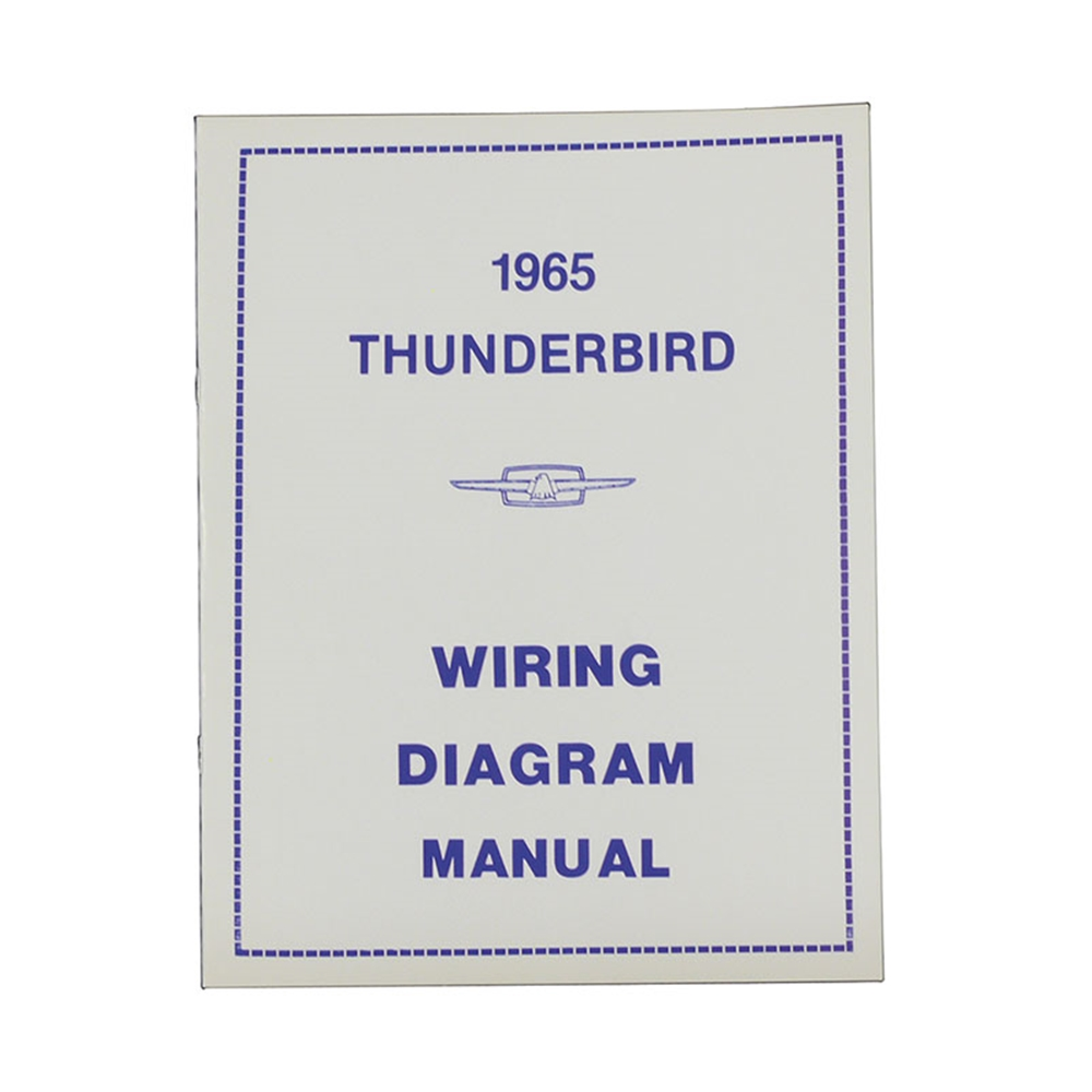 medium resolution of 1965 thunderbird wiring diagram manual reprint ford factory wire color codes gauges repair softbound 16 pages