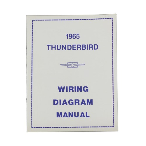 small resolution of 1965 thunderbird wiring diagram manual reprint ford factory wire color codes gauges repair softbound 16 pages