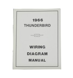 1966 thunderbird wiring diagram manual reprint ford factory wire color codes gauges repair softbound 20 pages  [ 1000 x 1000 Pixel ]