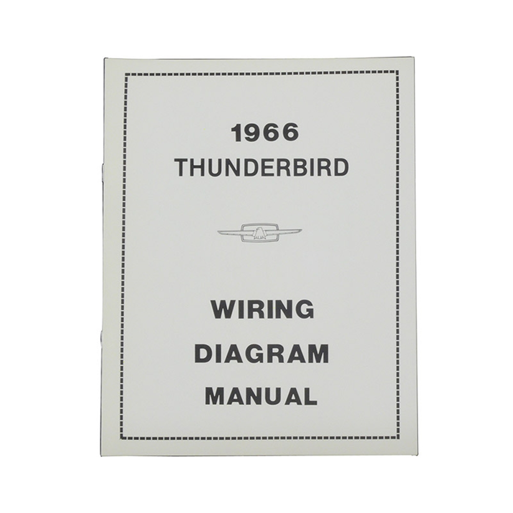 hight resolution of 1966 thunderbird wiring diagram manual reprint ford factory wire color codes gauges repair softbound 20 pages