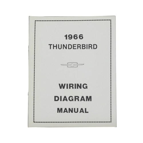 small resolution of 1966 thunderbird wiring diagram manual reprint ford factory wire color codes gauges repair softbound 20 pages