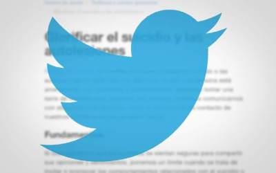 Twitter actualiza su reglamento para actuar contra la incitación al suicidio y las autolesiones