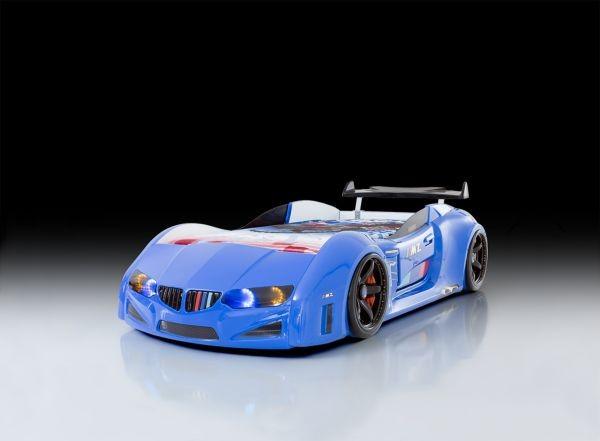 Autoletto a forma di BMW per bambini  blu full e porta