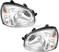2004 Hyundai Santa Fe Headlight Assembly Pair for 04 Santa