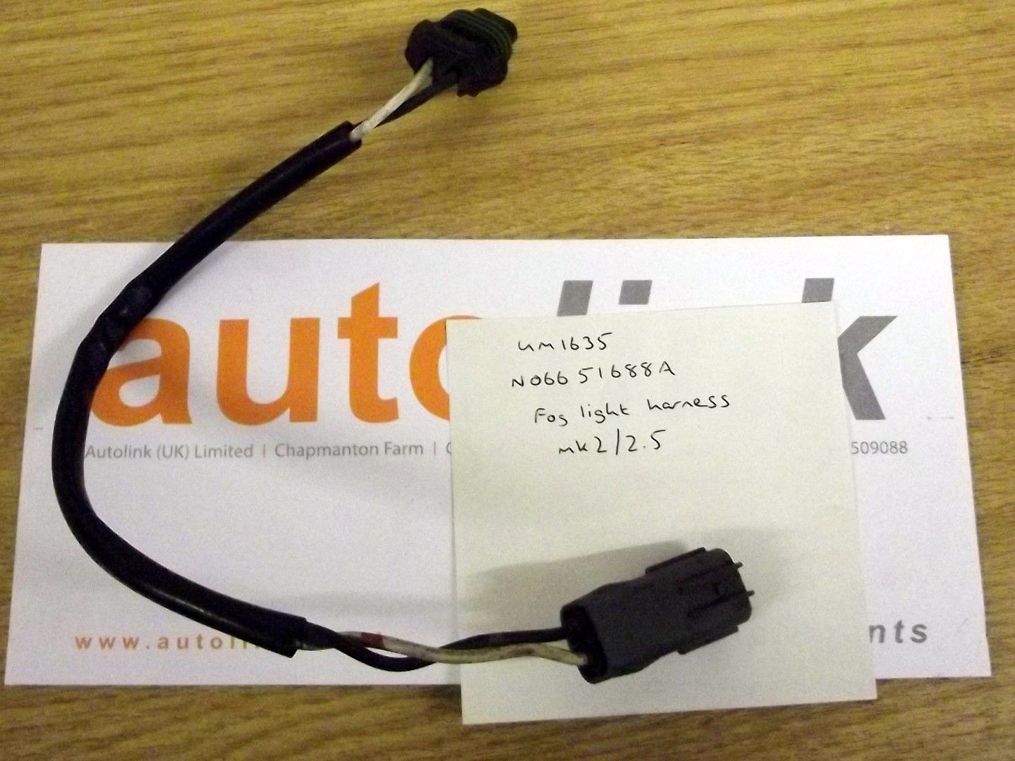 hight resolution of foglamp wiring harness loom for front fog light mazda mx 5 mk2 mk2 5 n06651688a used