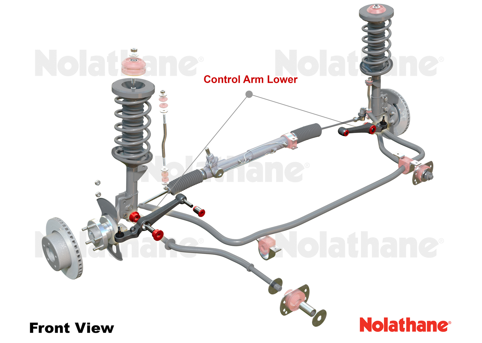 NOLATHANE FRONT LOWER CONTROL ARMS PAIR SUIT HOLDEN