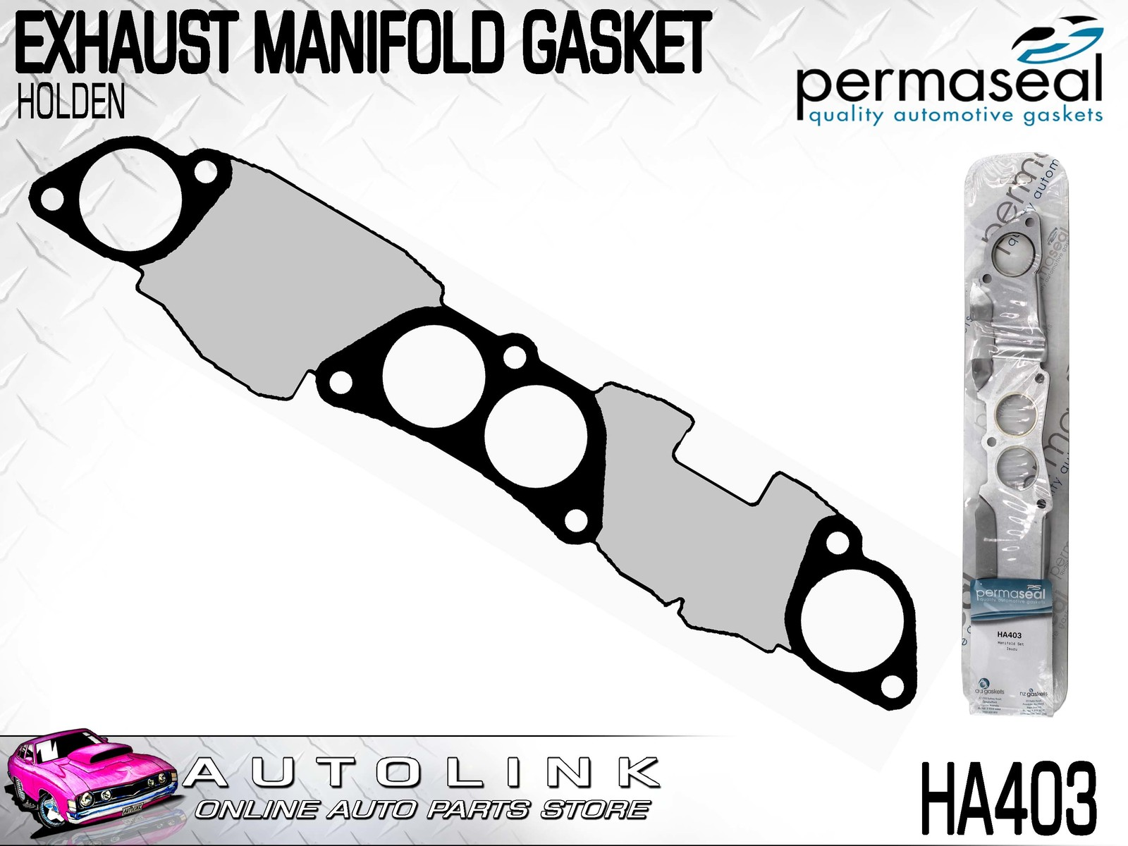 Permaseal Exhaust Manifold Gasket Suit Holden Shuttle Wfr
