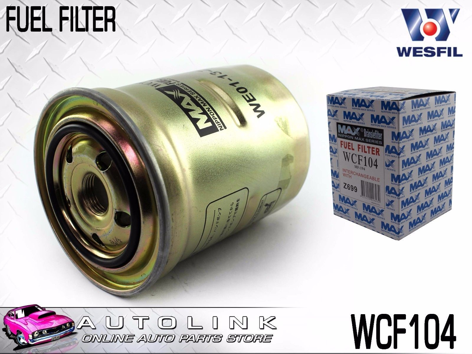 hight resolution of wesfil diesel fuel filter suits mazda 6 gg gh gj gy 4cyl t diesel 10 2006 6 2016