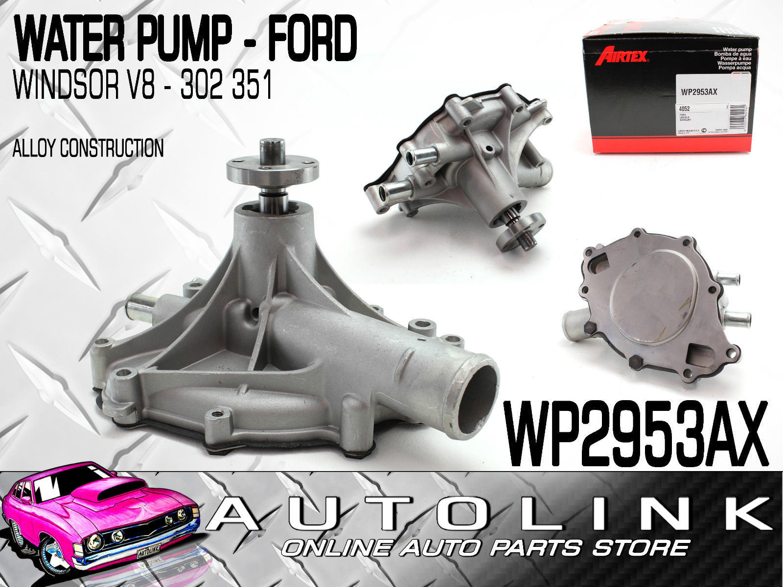 hight resolution of water pump suit ford falcon sedan wagon xw 302 351 windsor v8 lh water outlet airtex