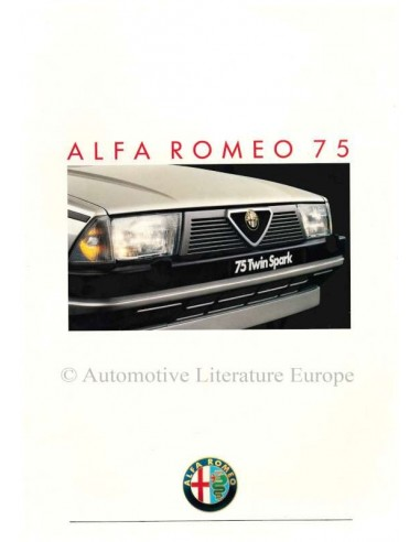 1987 ALFA ROMEO 75 BROCHURE DUTCH